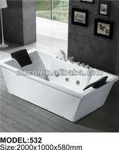 Double luxury whirlpool massage bathtub C532