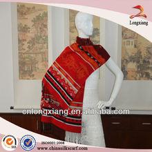 2012 fashion 100% silk korean fashion shawls