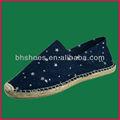 Bhs095462 lady marinha lona impressão estrela sapatos alpercatas