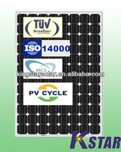 cheap photovoltaic solar panel 220w (KS220M-96) TUV/IEC/CE/MCS/CEC