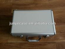 white aluminum hand tool case