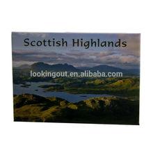scottish highlands custom made metal souvenir fridge magnet