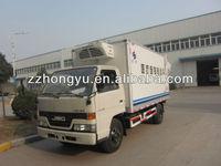 cheaper 2 tons JMC light freezer trucks for sale/2 ton freezer refrigerated truck/small freezer truck