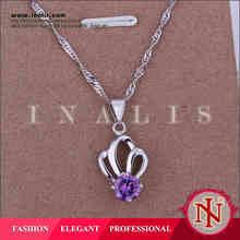 Handmade Elegant silver charm jewelry thailand LKNS925P020