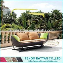 Outdoor Garden Rattan Patio Furniture Sofa Bed (TG0078-18)