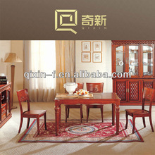 solid wood carved dinning table and chair