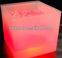 colour changing led wine ice bucket.led cube ice bucket