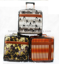 PU 16/17/18inch trolley luggage for business airport boarding luggage set small size mini luggage case