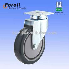 heavy duty swivel steel PU caster wheel