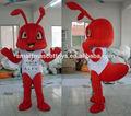venta caliente traje de hormiga ant mascota disfraces para adultos