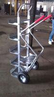 Foldable bottled water tray trolley