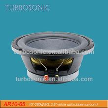 "10"" deep bass car speaker with rubber edge"