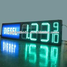 LED digital display signs green color RF remote control outdoor waterproof