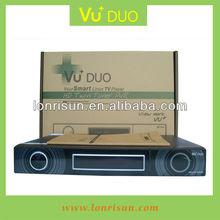 Smart tv box VU+DUO with HDMI USB internet scart and cvbs support CA+CI