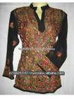 lucknow designer chikan hand embroidered kurtis, lucknow georgette kurtis, chiffon embroidered indian kurtis