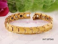 new tungsten bracelet with nano germanium energy IP gold