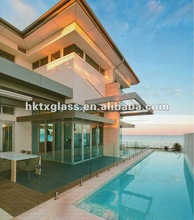 swimming pool tempered glass panels / AS/NZS 2208:1996 standard