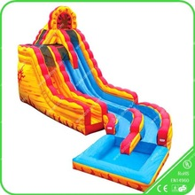 18ft inflatable water slide,commercial grade wet slide