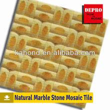 yellow pattern mosaics marble tiles flooring decoration