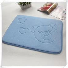 Branded exports surplus rubber backed polyester bath mat set,cheap wholesale bath mat/Memory foam bath mat_ Qinyi