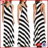 2014 Fashion design Lady stripe maxi dress/long maxi dress