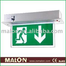 Malon ML-B087 led acrylic exit sign/autotest/emergency rechargeable lamp/beacon/led lantern/127