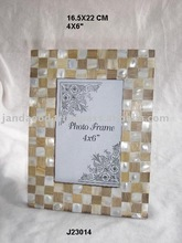 Mother of Pearl and Bamboo Mosaic Photo frame Available in all photo Sizes