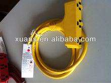 UL heavy duty multi plug extension cord/UL listed ac power cord