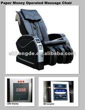 Electric Public Vending Paper Money Massage Chair