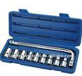 """10 adet( 1/2"""") krom vanadyum darbe durumunda küçük el araç setleri"""