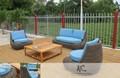 simple style moderne en rotin extérieur meubles fabriqués au vietnam
