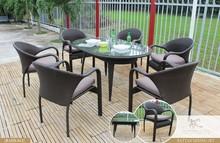 Rattan wicker garden furniture ( 1.2mm aluminum frame, poly rattan woven)