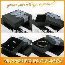 Elegant black custom recycled fashion paper jewelry box (BLF-GB001)