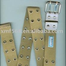 fashion polyester webbing belt with eyelets