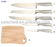 Stainless Steel Kitchen Knife Set with Cutting Board