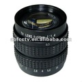 De alta resolución monofocal 50mm f1.4 manual iris 50mm f1.4 cctv lente de la cámara