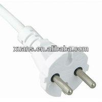KC plug and 2pin korea ac power supply plug