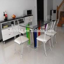 modern acrylic furniture for living room/acrylic table set