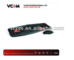 2013 VCOM brand New Design Hot Sales fuctional Game keyboard