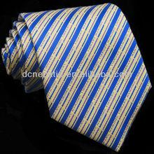 new design silk stripe woven necktie
