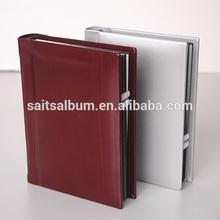 Custom PU cover peel and stick photo album books