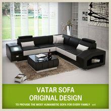 VATAR imported leather sofa,l shape black leather sofa, leather sofa 2013