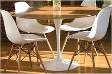 Modern Plastic dining chair/ Eames chair wood leg