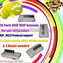 Asterisk gsm card 16 port goip gateway sim card sms receiver