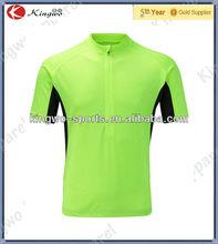 wholesale active wear, Fluo yellow bike t-shirt cycling wear tshirt