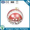 round shape metal tin christmas box