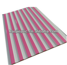 PVC building material or the pvc wall panel of the little pink striped pattern