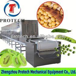 High efficiency microwave tunnel flower dehydrator