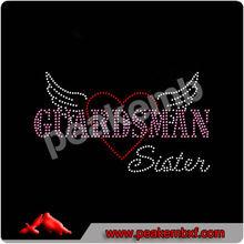 Sports Motif Transfer Guardsman Sister National Guard Military Crystal Bling Design