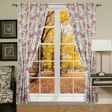 2015 newest suitable for window living room flower Print arabic curtains for home